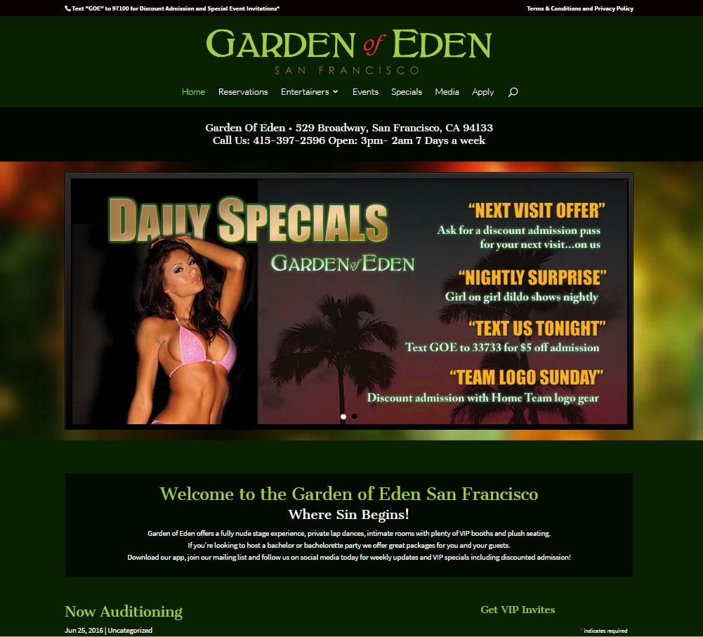 Garden of Eden San Francisco