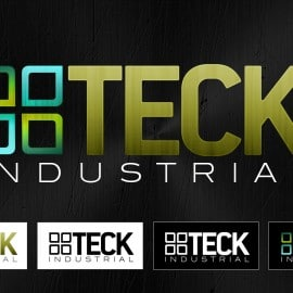 Teck Industrial Logo Design